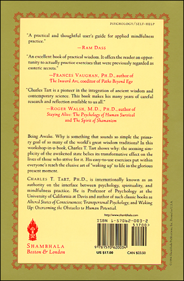 Living the Mindful Life (book cover back)