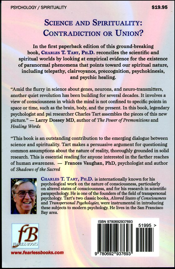 The Secret Science of the Soul: How Evidence of the Paranormal is Bringing Science and Spirit Together (book cover back)